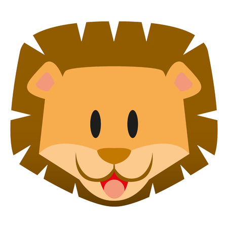 cub: A vector cute cartoon baby lion icon