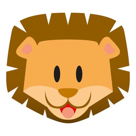 cachorro: Un icono lindo de la historieta del le�n del beb� del vector