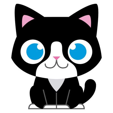Vector Cartoon Adorable Little Cat Isolated Illustration Stock Vector - 30333807