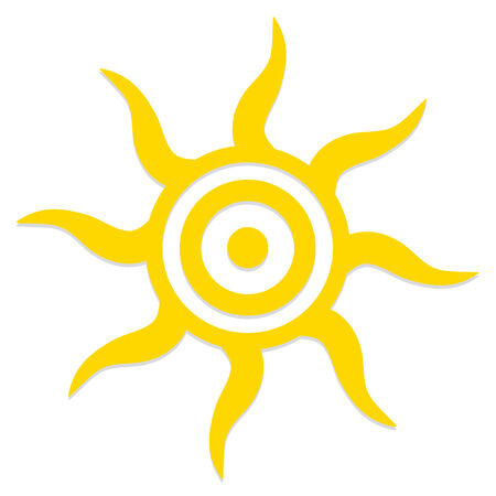 Vector Abstract Stylish Sun Icon Isolated On White Background Vector