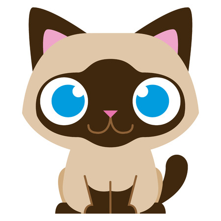 cat toy: Vector Cartoon Adorable Little Cat Isolated Illustration