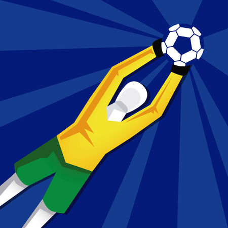 Vector Soccer Stylish Illustration Isolated On Background Vector