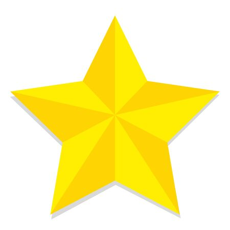star cartoon: Vector Low Poly Style Yellow Star Isolated Illustration