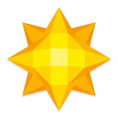low prizes: Vector Low Poly Style Yellow Sun Isolated