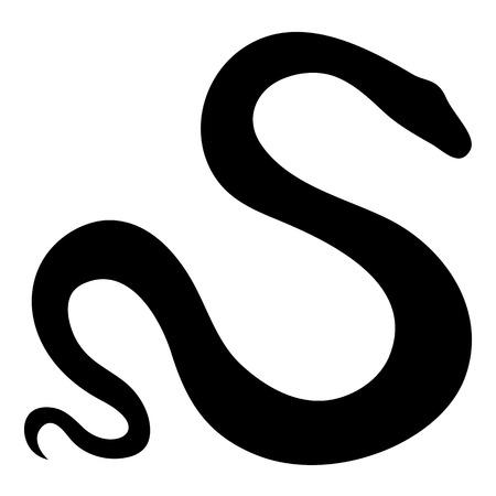 snake year: Vector Stylized Snake Illustration Isolated On White Background Illustration