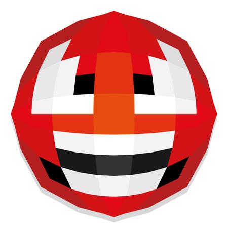 huffy: Vector Cute Cartoon Polygonal Face Illustration Isolated