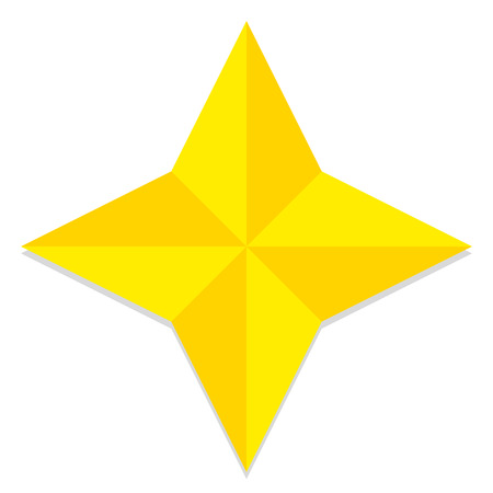 low poly: Vector Low Poly Style Yellow Star Isolated Illustration
