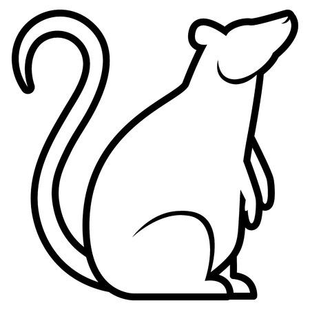 plague: Vector Stylized Rat Illustration Isolated On White Background