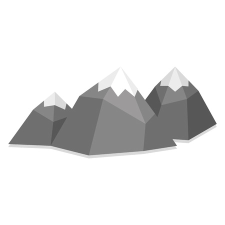 low poly: Vector Low Poly Style Group Mountains Isolated