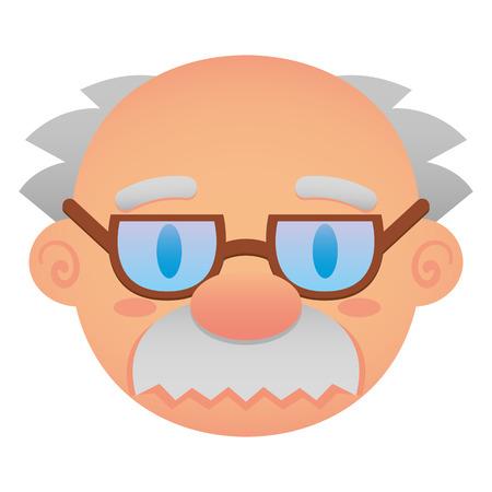 Vector Cartoon gezicht geïsoleerd op een witte achtergrond