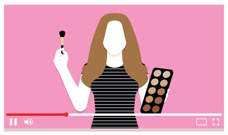 Vector Make Up Artist On Internet Video