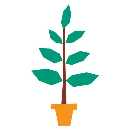 Cartoon plant icon. Illustration