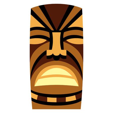 Cartoon Tiki Idol illustration.  イラスト・ベクター素材