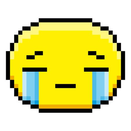 Cartoon crying face illustration.