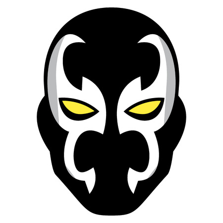 Vector cartoon mask isolated on white background Illustration