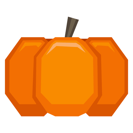 Vector Cartoon Pumpkin Isolated On White Background