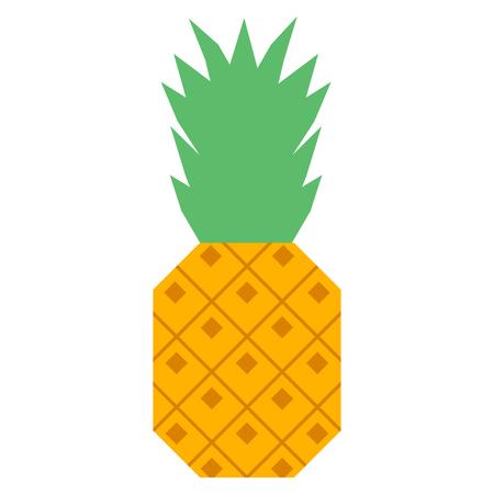 Cartoon Pineapple illustration.
