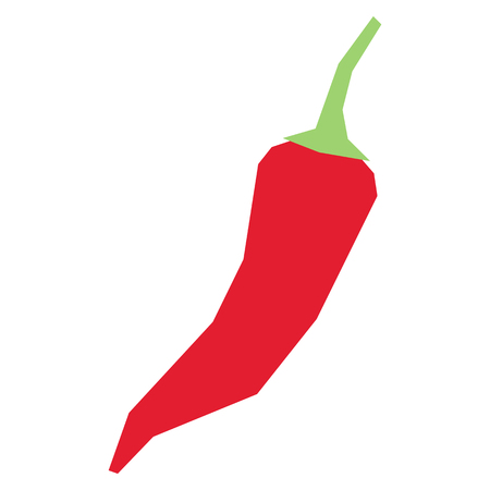 Vector Cartoon Chili Pepper Isolated On White Background Illustration