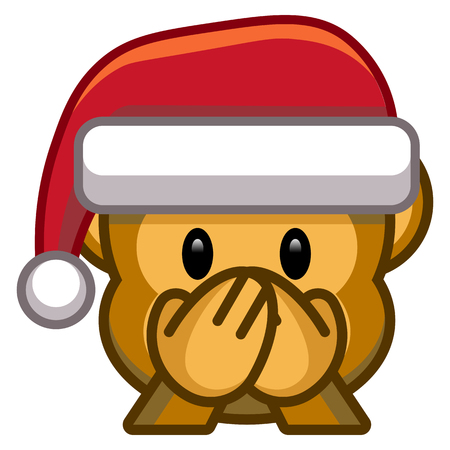 Cartoon Christmas emoticons illustration. Illustration