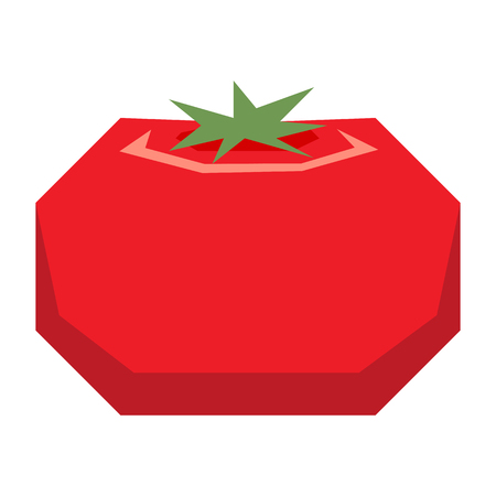 Cartoon red tomato illustration.