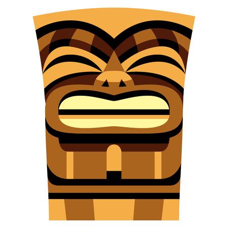 Cartoon Tiki Idol illustration. Illustration