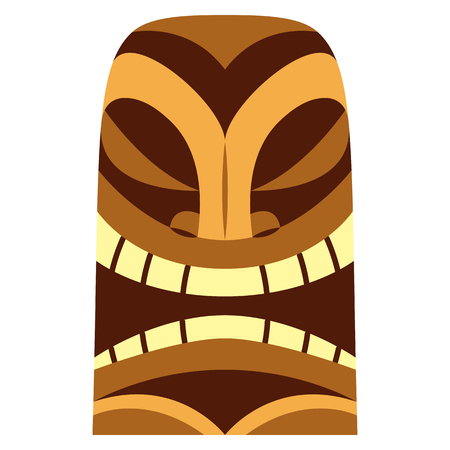 Cartoon tiki idol illustration.