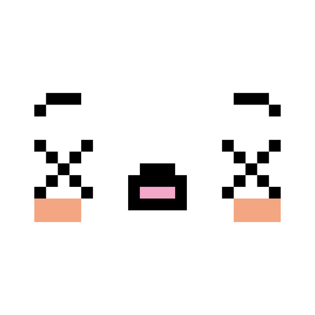 A Vector Pixel Cartoon Dead Face
