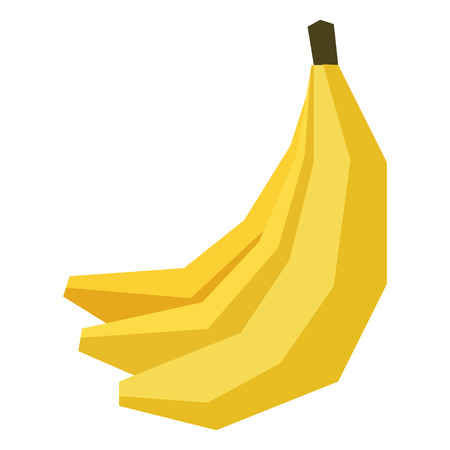 A Vector Cartoon Banana Isolated On White Background