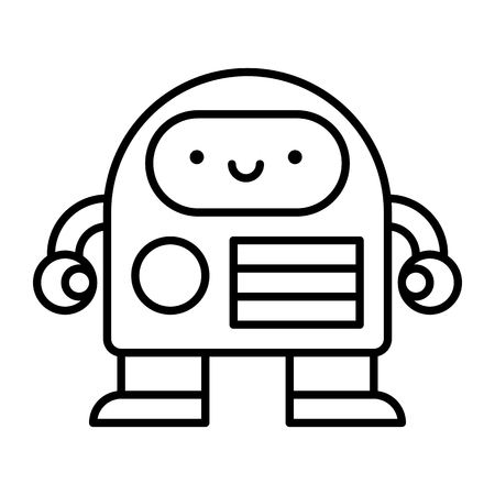 Cartoon robot illustration.