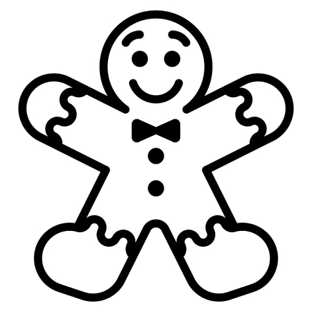 Vector cartoon gingerbread Man isolated on white background