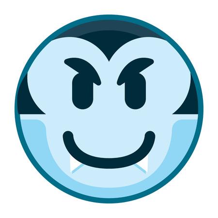 Vector Cartoon Vampire Emoji Isolated On White Background Stock Photo