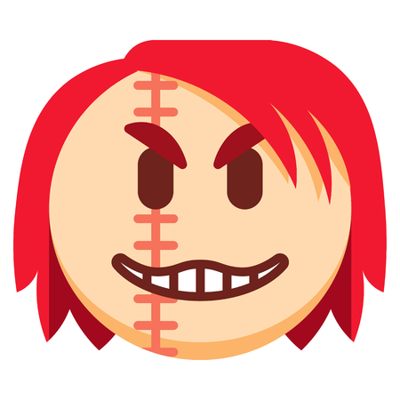 A Vector Cartoon Halloween Emoji Isolated On White Background