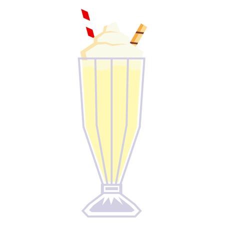Vector Cartoon Milkshake Isolated On White Background