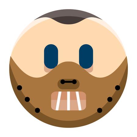 Cartoon Halloween Emoji Geïsoleerd Op Een Witte Achtergrond