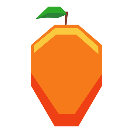 Vector Cartoon fruit Isolated On White Background
