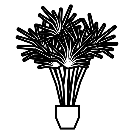 A Vector Cartoon Plant Isolated On White Background