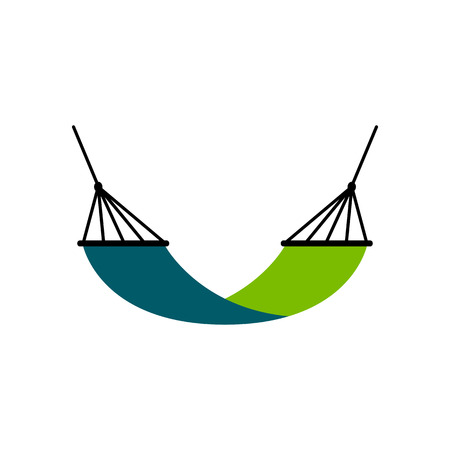 Vector Hammock Icon Isolated On White Background