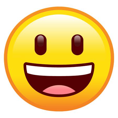 Vektor glückliches Gesicht isoliert auf weißem Hintergrund