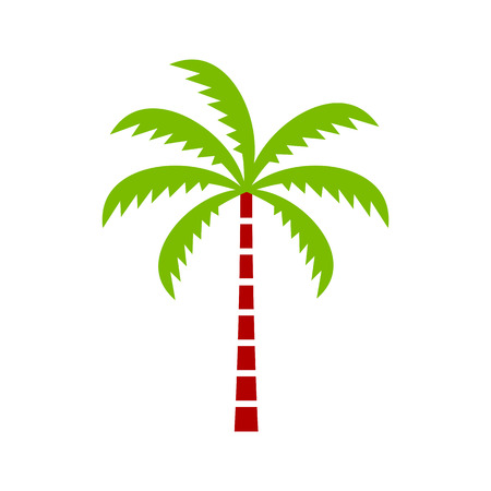 Vector Palm Tree Icon Isolated On White Background