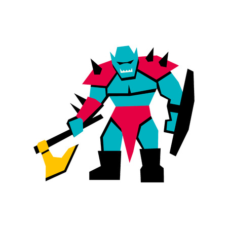 Vector RPG Medieval Fantasy Orc Character Isolated