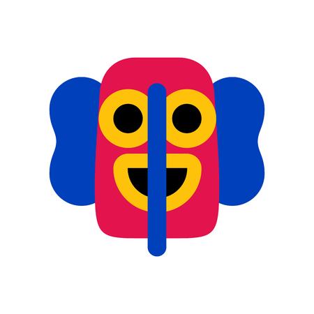 Vector Cartoon Marimonda Mask Icon Isolated On White Background Illustration
