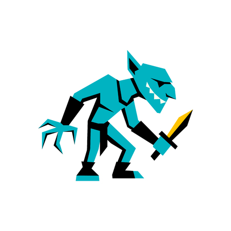 Vector RPG Medieval Fantasy Goblin Character Isolated