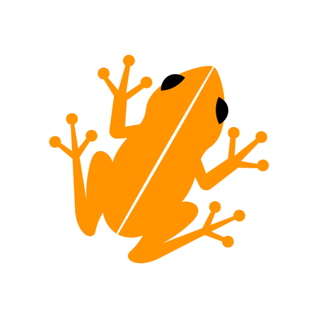 Vector Frog Icon Isolated On White Background