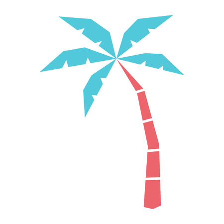 Vector Cartoon Palm Tree Icon Isolated On White Background