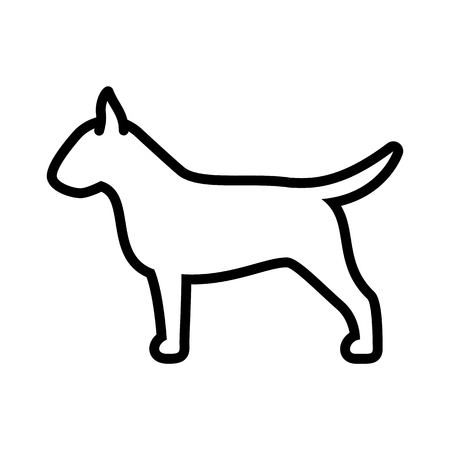 Vector Bull Terrier Dog Icon Isolated On White Background