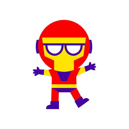 Vector Cartoon Super Hero Kid Illustration Isolated