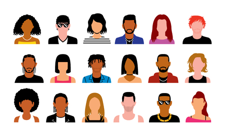 Vector Set Of Different Characters Isolated On White Background