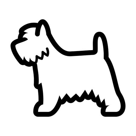 Vector West Highland White Terrier Dog Icon Isolated On White Background  イラスト・ベクター素材