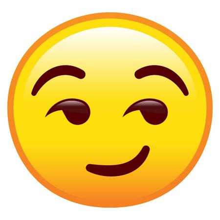 Vektor freches Gesicht isoliert auf weißem Hintergrund Vektorgrafik