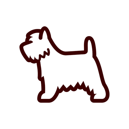 Vector West Highland White Terrier Dog Icon Isolated On White Background Illustration